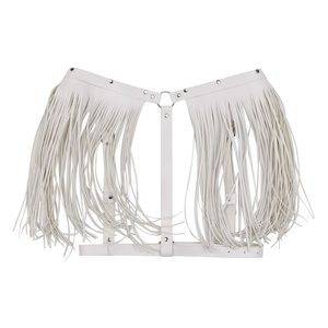 Other - Handmade Faux Leather Fringe Wing Harness